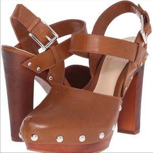 Vince Camuto Elric brown platform sandals sz 8